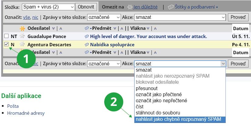 Jak se zbavit e-mailů s webovými servery